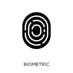 Biometric identification icon. Biometric identification symbol design from Programming collection.