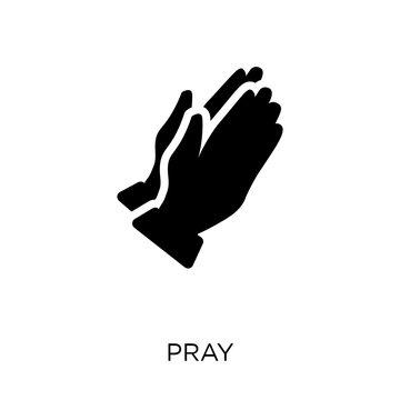 Pray icon. Pray symbol design from Religion collection.