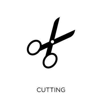 Cutting icon. Cutting symbol design from Sew collection.