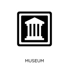 Museum sign icon. Museum sign symbol design from Traffic signs collection.