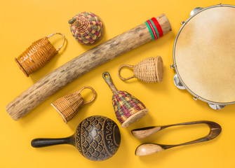 Ethnic percussion musical instruments