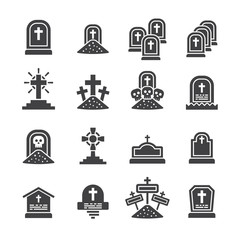 Tomb,Graves icon set