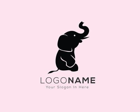 Simple sitting elephant logo design inspiration