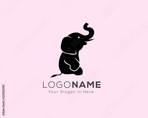 0372fc5eb Simple sitting elephant logo design inspiration