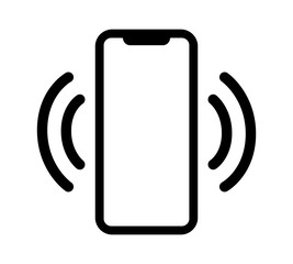 Smartphone / mobile phone vibrating or ringing flat vector icon for apps and websites