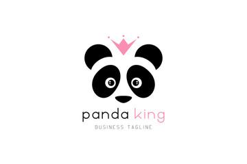 King panda logo design.
