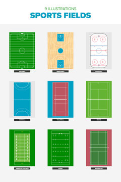 9 of the worlds most popular sports fields seen from above