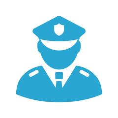Policeman vector sign