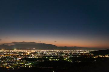 Wall Mural - 夜明け 福岡市 油山展望台からの眺望