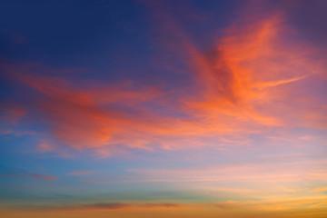 Sunset sunrise dramatic sky orange clouds