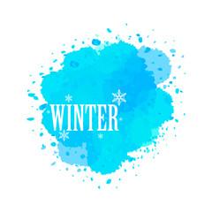 watercolor billboard of winter