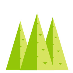 Simple vector of some green pines.