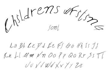 childrens writing font