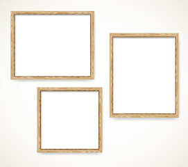 Wood blank frames set illustration