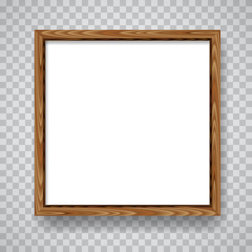 Wood blank frame illustration