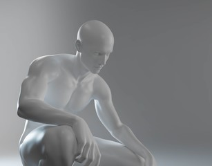 3D mannequin model male