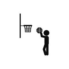 player basketball icon vector illustration eps10. Isolated badge for website or app - stock infographics