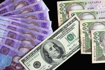 American Dollars and Ukrainian Hryvnias