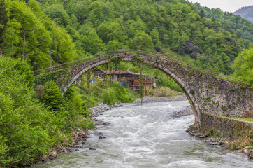 Very close to the Black Sea coast, the Firtina Valley displays some stunning views , included many stone bridges