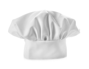 Traditional chef's hat on white background