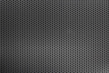Black mesh screen background and texture with selective focus