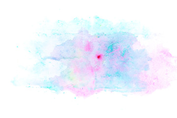 Abstract watercolor on white background