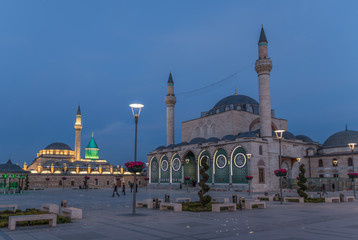 Konya, Turkey - a major city of the Anatolian Plateau, once capital of the Seljuk Sultanate and still famous today for the whirling dervishes. Here in particular the Mevlana Museum