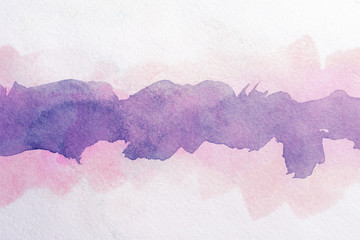 strip of watercolor, purple with jagged edges, clean interior background with paper texture