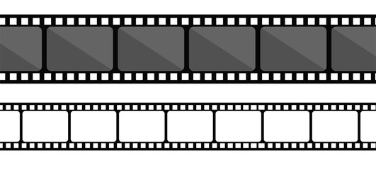 Film strip collection. Vector template.