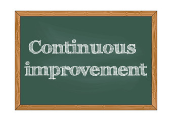 Continuous improvement chalkboard notice Vector illustration for design
