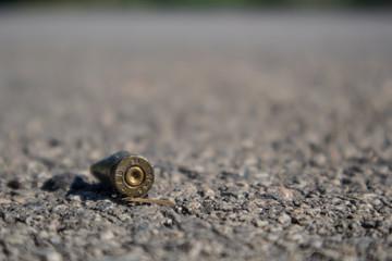 Bullet casing on the street