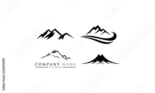 elegant mountain template stock image and royalty free vector files
