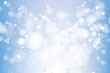 Vector of Christmas snowflakes for winter season.