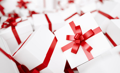 many red gift box