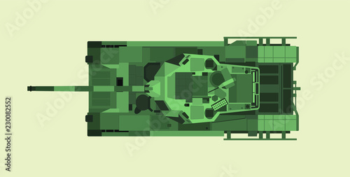 f03a58ff28089 The New Russian main battle tank Armata T-14 in vector design. Top view