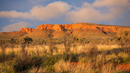 Kings Canyon rock formations at sunset, Central Australia, Northern Territory, Australia