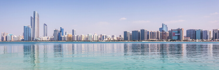 Photo sur Toile Abou Dabi Abu Dhabi Skyline