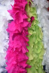 Boa de plumes colorées