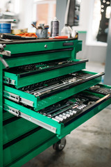 Car service tool box, professional instrument