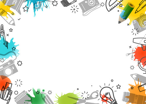 Creative frame. Vector art background