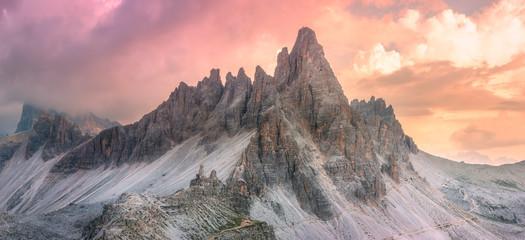 Mountain ridge view of Tre Cime di Lavaredo, South Tirol, Dolomites Italien Alps Wall mural