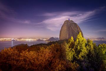 Sugar Loaf Mountain at night - Rio de Janeiro, Brazil