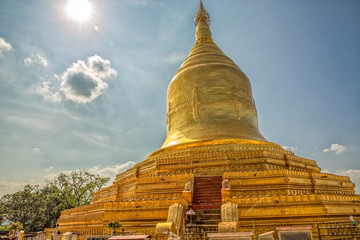 Golden Pagoda of Lawka Nanda in Bagan Myanmar
