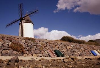 Photo sur Toile Moulins moulin de jard-sur-mer en vendée,au bord de la mer