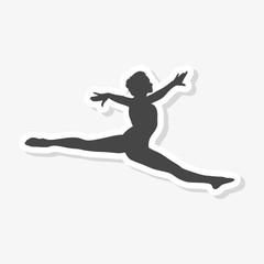 Silhouette of a gymnast woman sticker