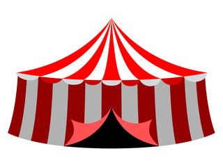 Islated carnival tent icon. Vector illustration design