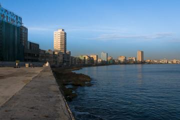 Paisaje del malecón de la Habana.