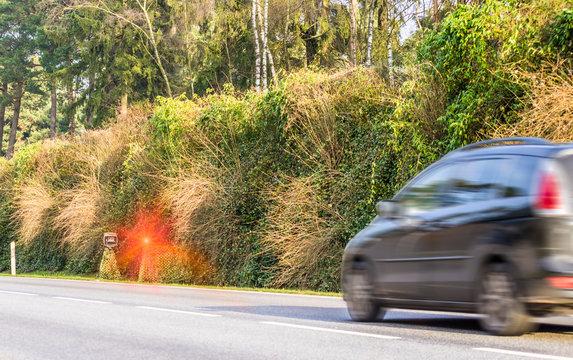 Geblitzt Radarkontrolle Geschwindigkeitsüberschreitung Blitzer abzocke