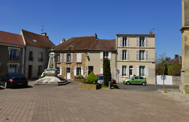 Marines, France - may 4 2018 : picturesque village