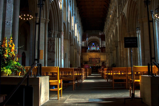 Cathedral and Abbey Church of St Alban. St Albans, Hertfordshire, England, UK